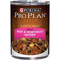 Pro Plan Savor Beef & Vegetables Adult Canned Dog Food