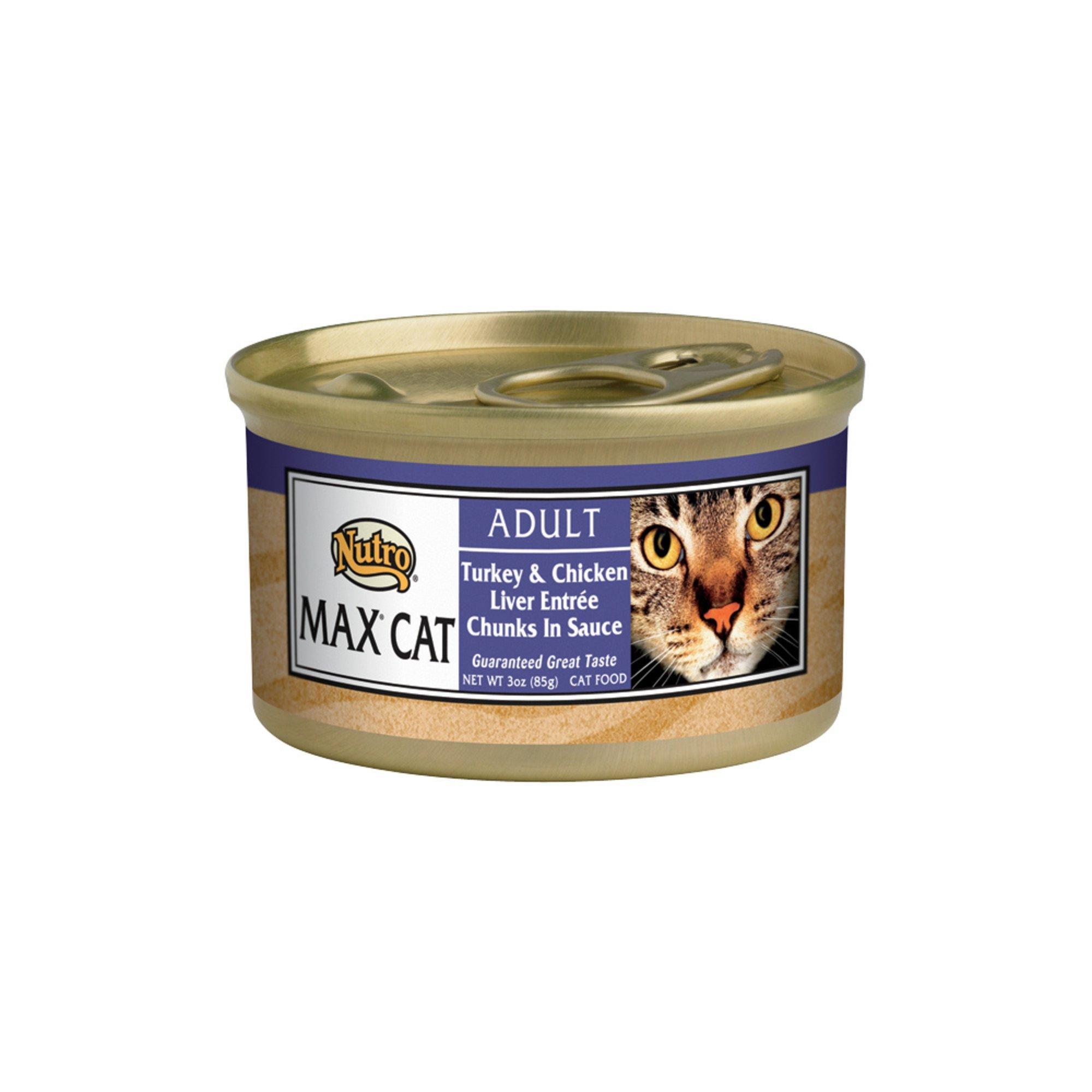 Nutro MAX CAT Turkey & Chicken Liver Saute Gourmet Classics Adult Cat Food