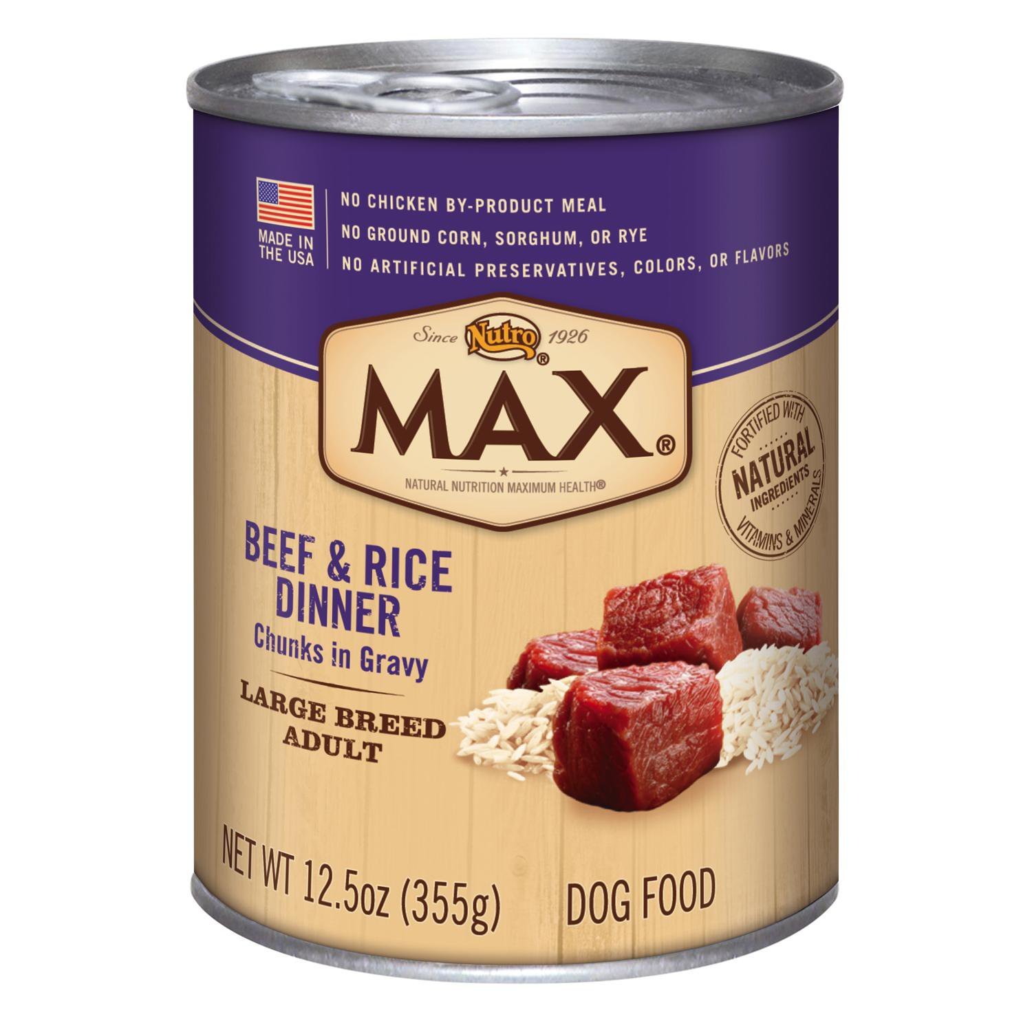 Nutro MAX Chunks Large Breed Adult Canned Dog Food in Gravy