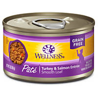 Wellness Adult Canned Cat Food, Turkey & Salmon