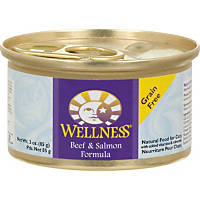 Wellness Adult Canned Cat Food, Beef & Salmon