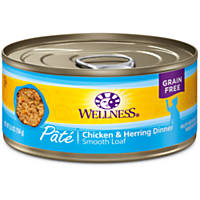 Wellness Adult Canned Cat Food, Chicken & Herring