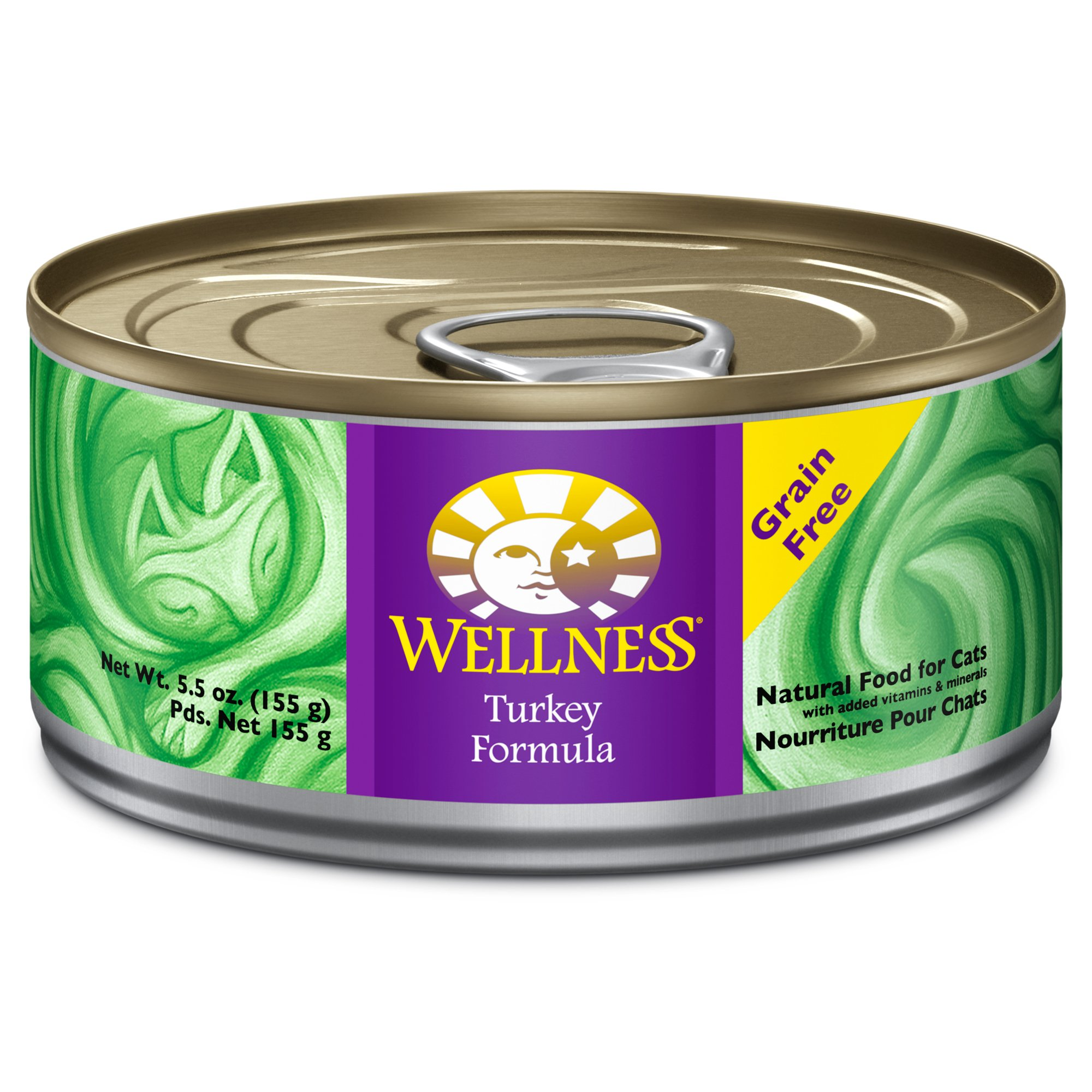 Wellness Adult Canned Cat Food, Turkey