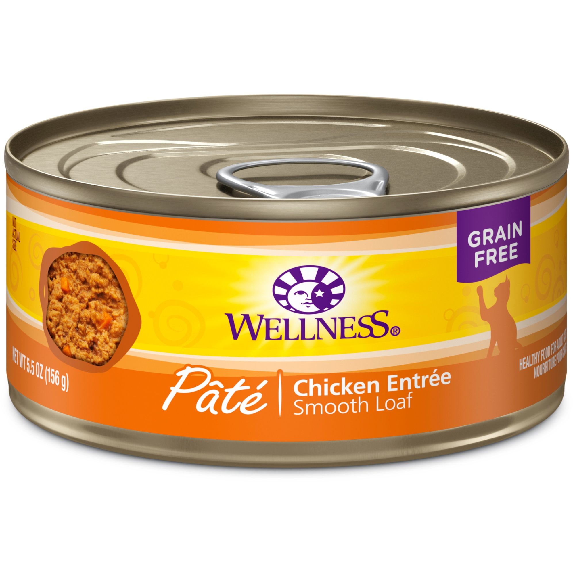 Wellness Adult Canned Cat Food, Chicken