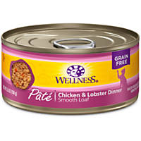 Wellness Adult Canned Cat Food, Chicken & Lobster