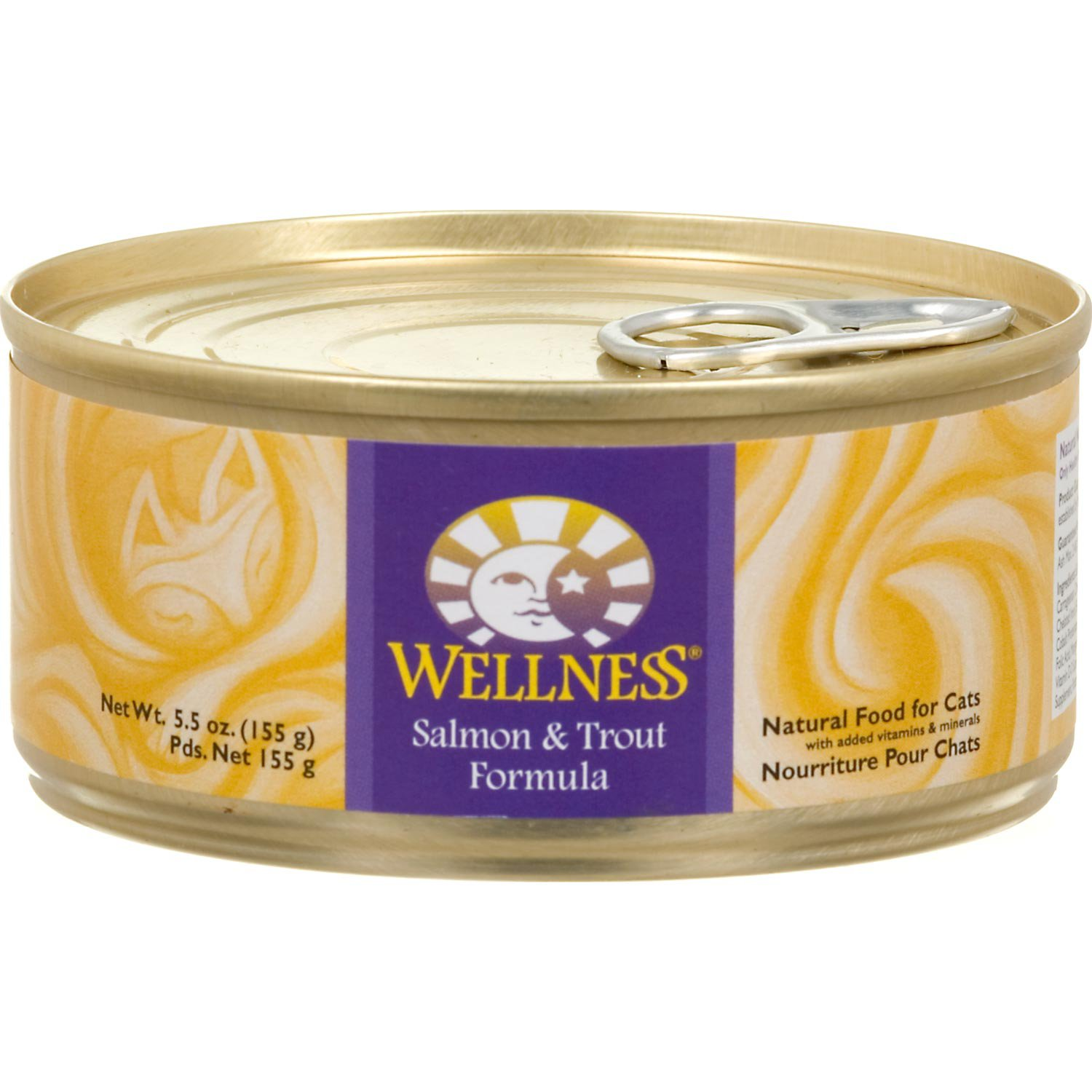 Wellness Adult Canned Cat Food, Salmon & Trout