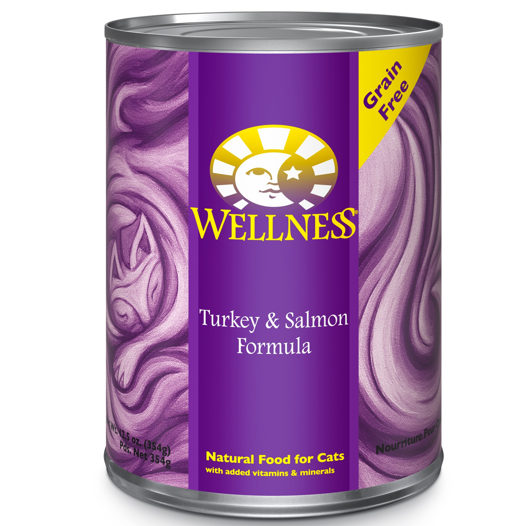 Wellness Adult Canned Cat Food, Turkey & Salmon