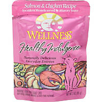 Wellness Adult Healthy Indulgence Salmon & Chicken Recipe Cat Food Pouches