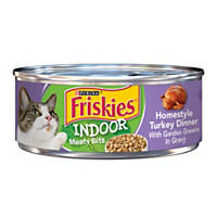 Friskies Selects Indoor Canned Cat Food, Turkey with Brown Rice & Garden Greens