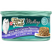 Fancy Feast Elegant Medleys Primavera Adult Canned Cat Food in Sauce, Chicken Primavera