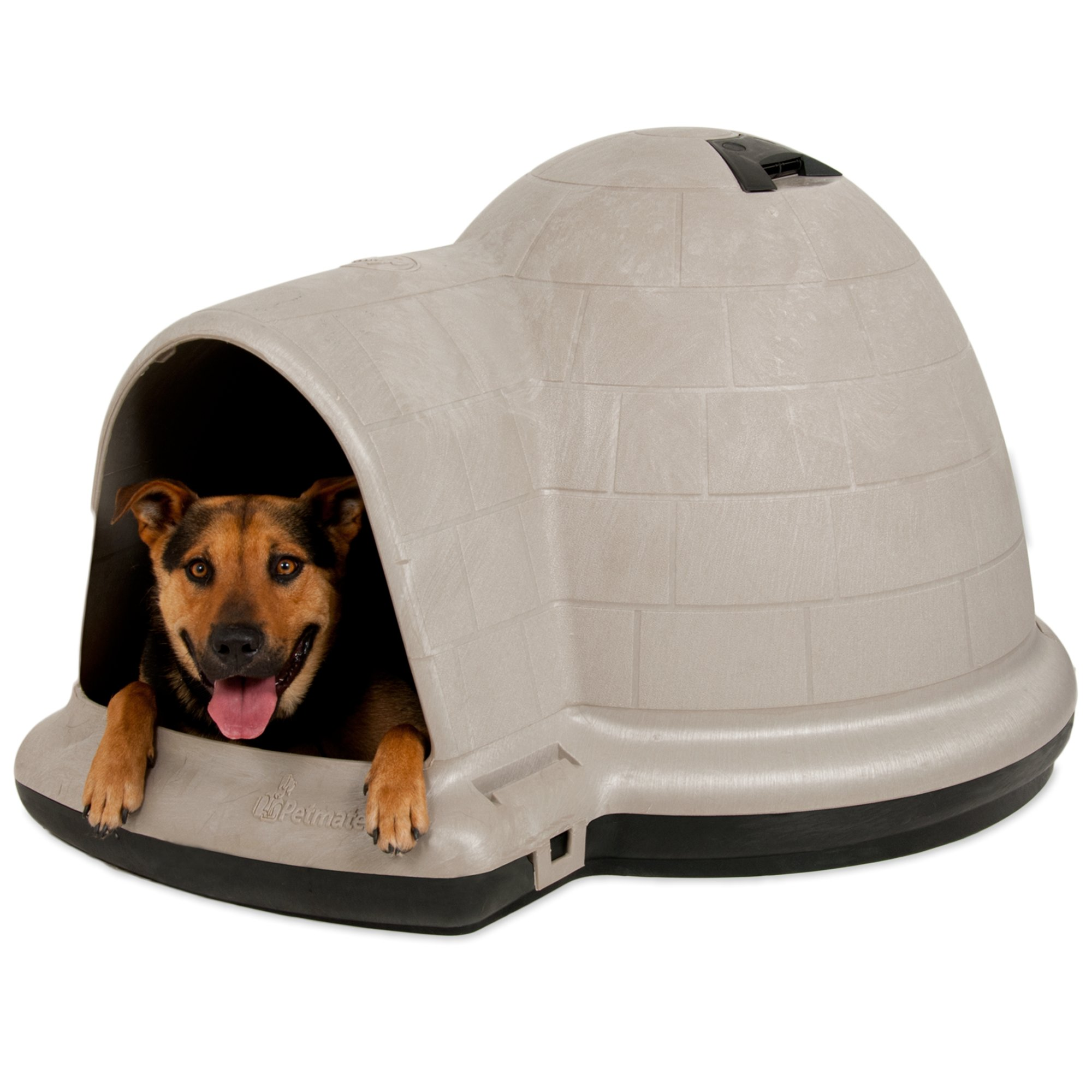 Igloo dog house petmate indigo dog home dog igloo petco for Petmate dog house large