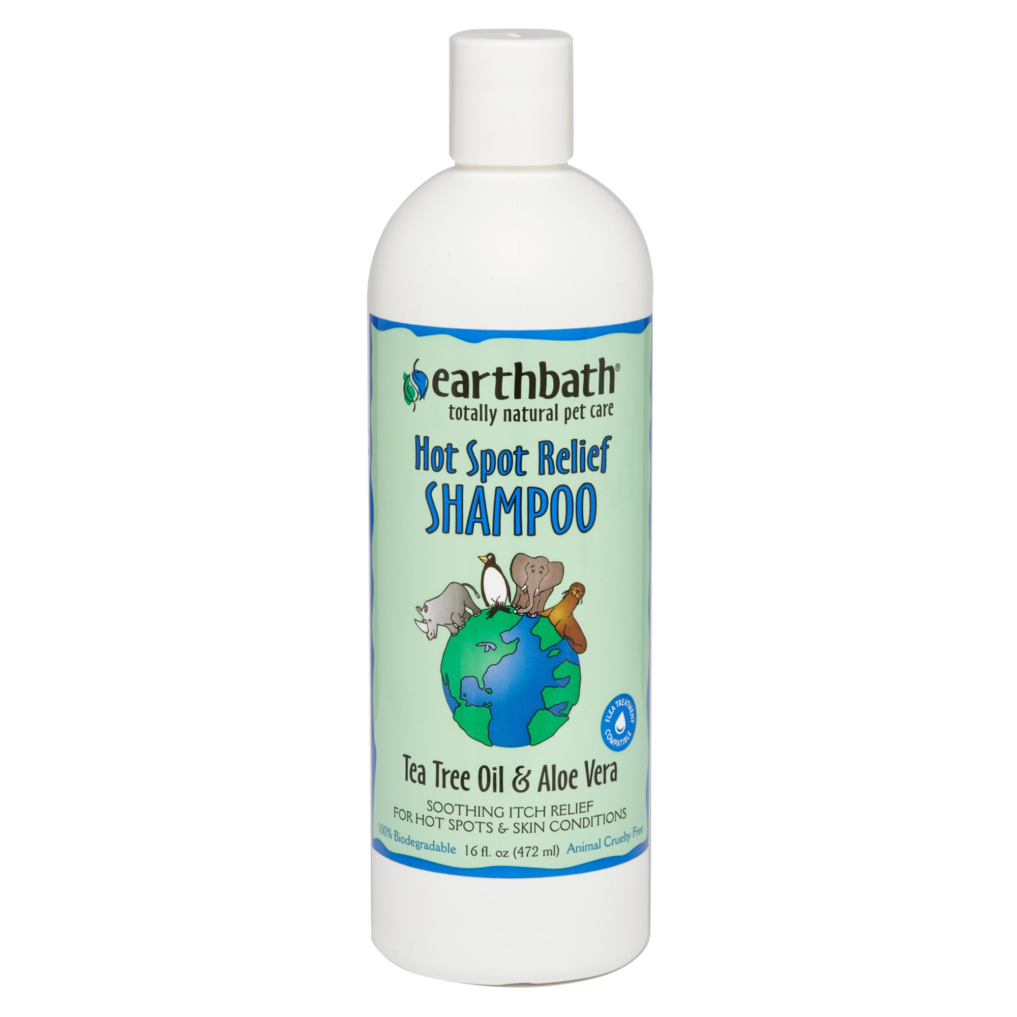 Earthbath Tea Trea Oil & Aloe Vera Totally Natural Pet Shampoo