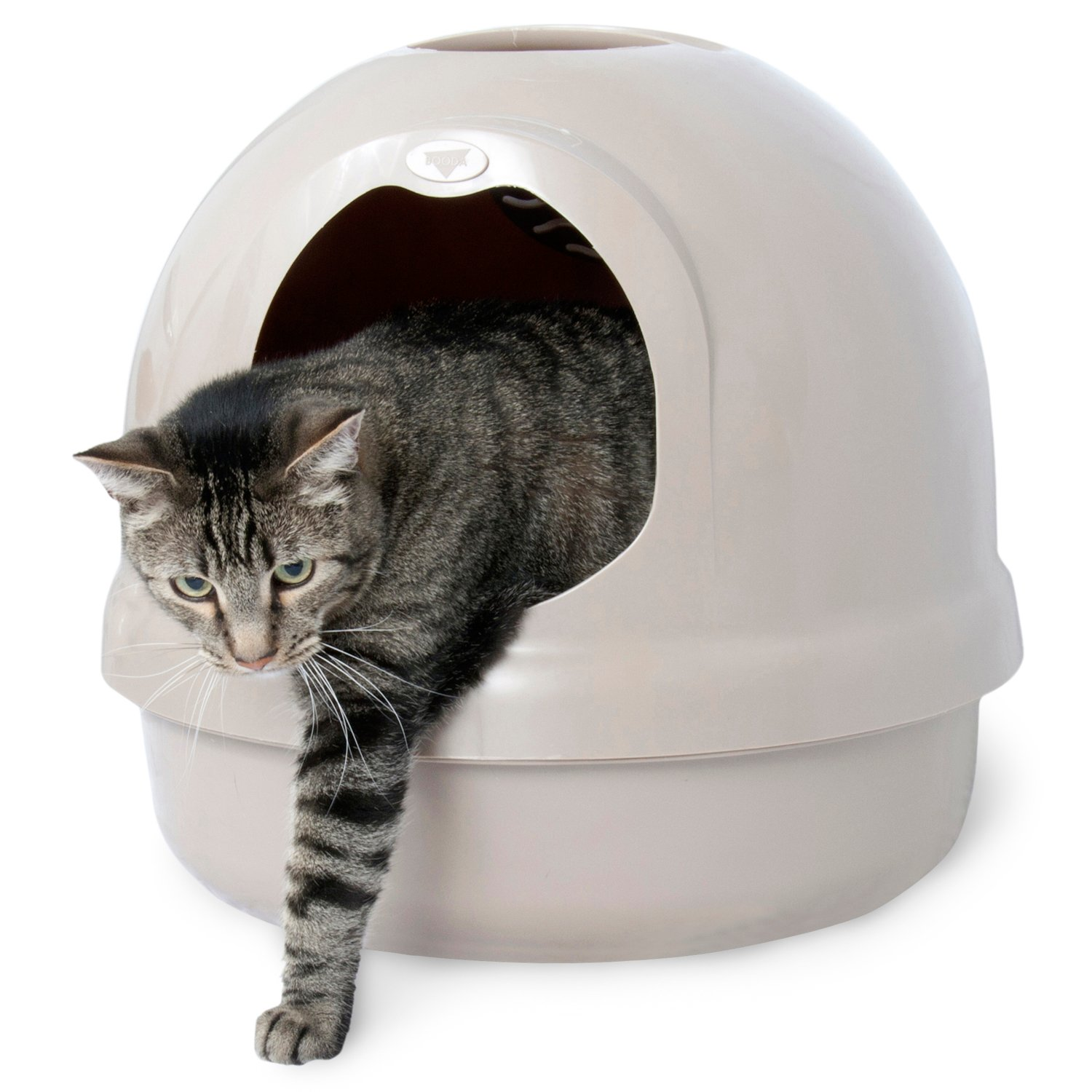 Booda Dome Covered Litter Box in Titanium