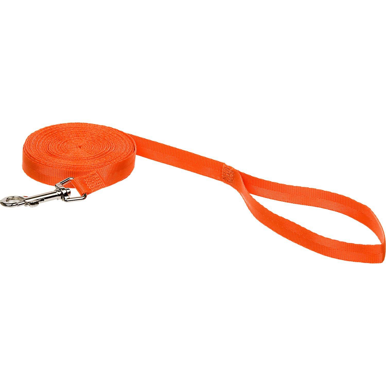 Remington Nylon Check Cord Training Dog Leash in Orange