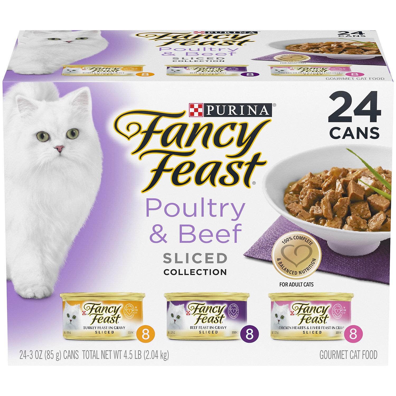 Fancy Feast Sliced Gourmet Cat Food Variety Pack