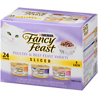 Fancy Feast Sliced Gourmet Cat Food Variety Pack
