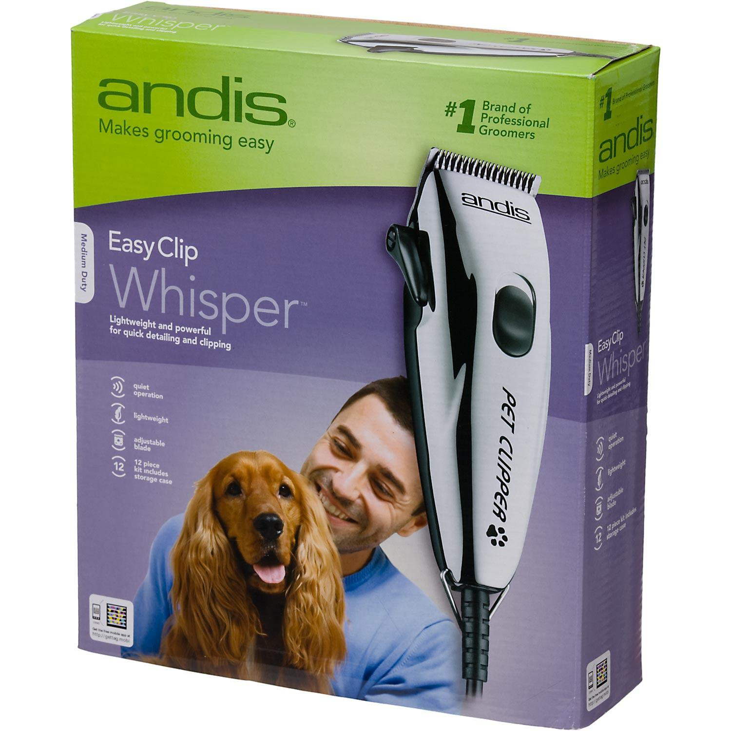 Andis Easy Clip Whisper Clipper Kit for Dogs