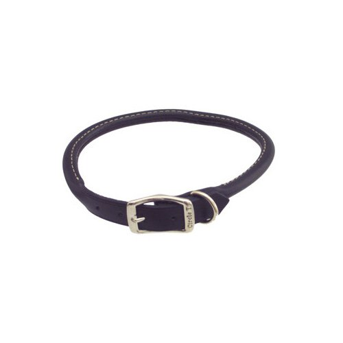 Petco Rolled Leather Collars in Black