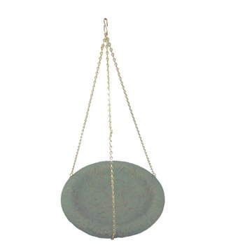 Whitehall Products Oak Leaf Hanging Birdbath in Gray