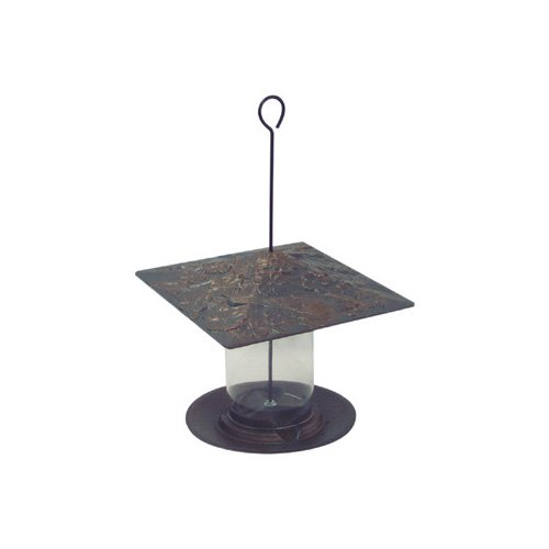Whitehall Products Cardinal Tube Bird Feeder in Verdigris