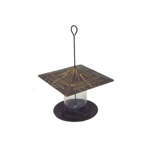 Whitehall Products Dragonfly Tube Bird Feeder in Bronze