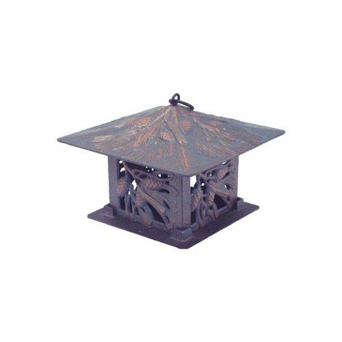 Whitehall Products Pinecone Tea Lantern in Verdigris