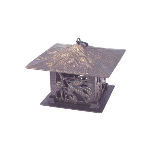 Whitehall Products Pinecone Tea Lantern in Bronze