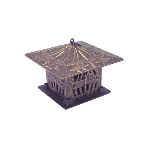 Whitehall Products Dragonfly Tea Lantern in Bronze