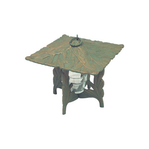 Whitehall Products Twilight Pinecone Lantern in Verdigris