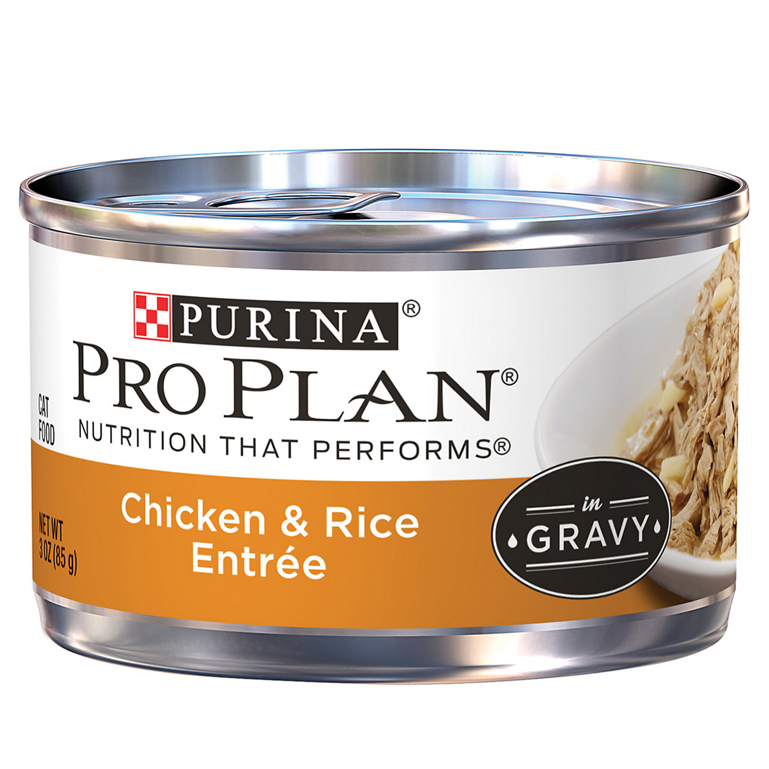 Purina Pro Plan Chicken & Rice Entree in Gravy Cat Food 3 oz