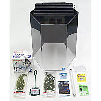 SeaClear Junior Executive 15 Gallon Hexagon Kits in Clear