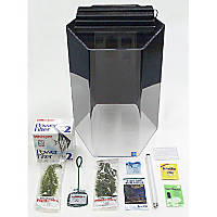 SeaClear Junior Executive 20 Gallon Hexagon Kits in Black