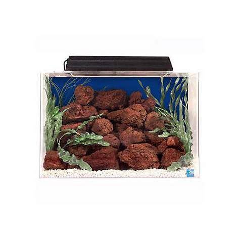 Seaclear rectangular 15 gallon aquarium combos in blue petco for Fish tank and stand combo