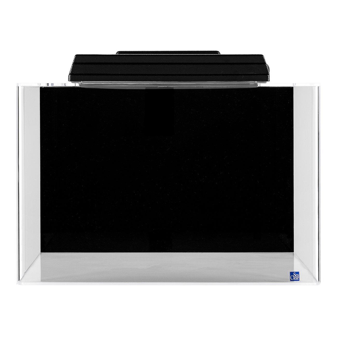 Seaclear rectangular 20 gallon aquarium combos in black for Sea clear fish tank