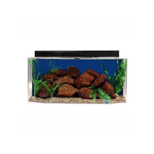 SeaClear Flatback Hexagon Aquarium Combo in Blue