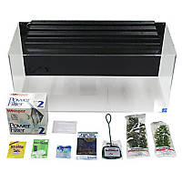 SeaClear Rectangular 40 Gallon Junior Executive Kits in Clear