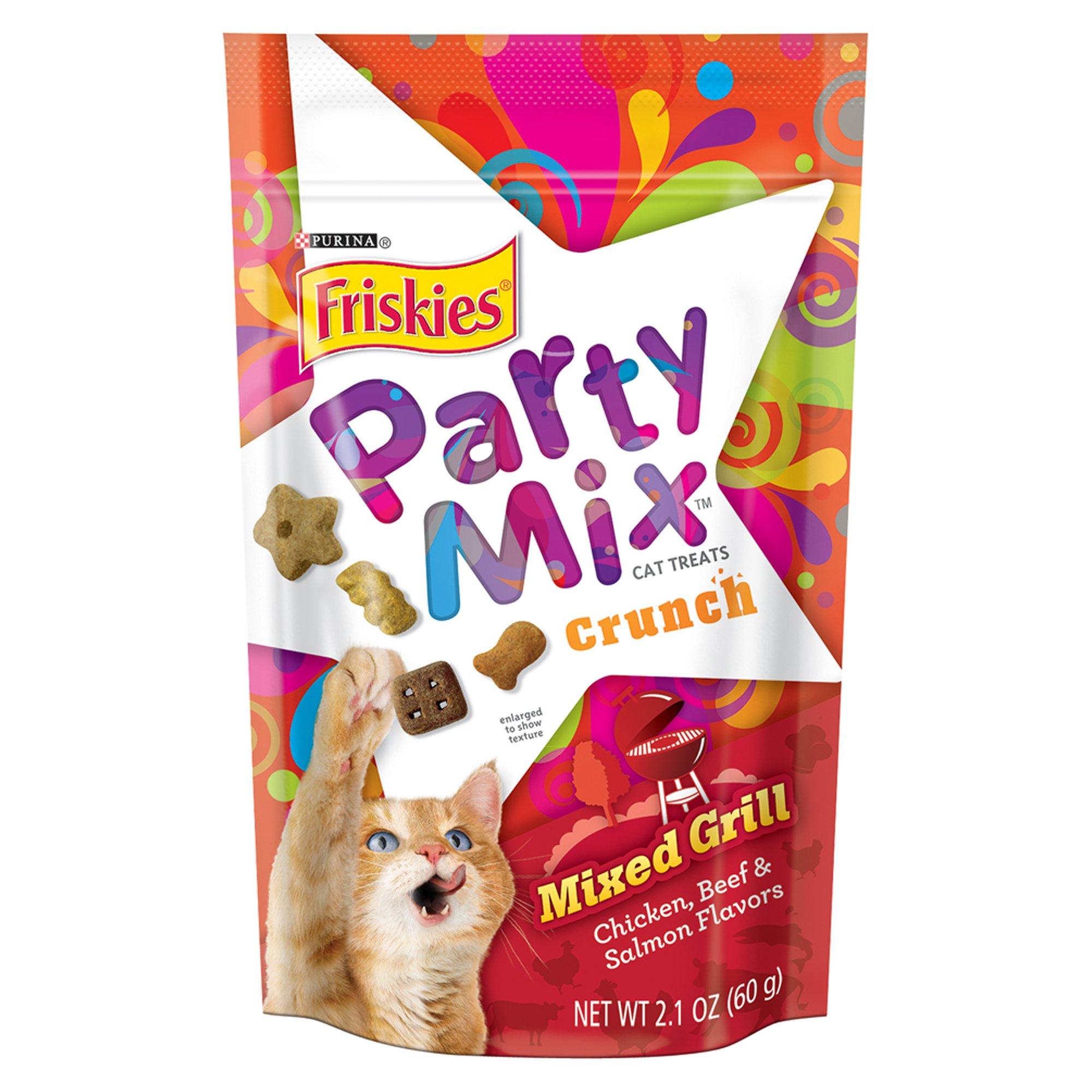 Friskies Mixed Grill Crunch Party Mix Cat Treats