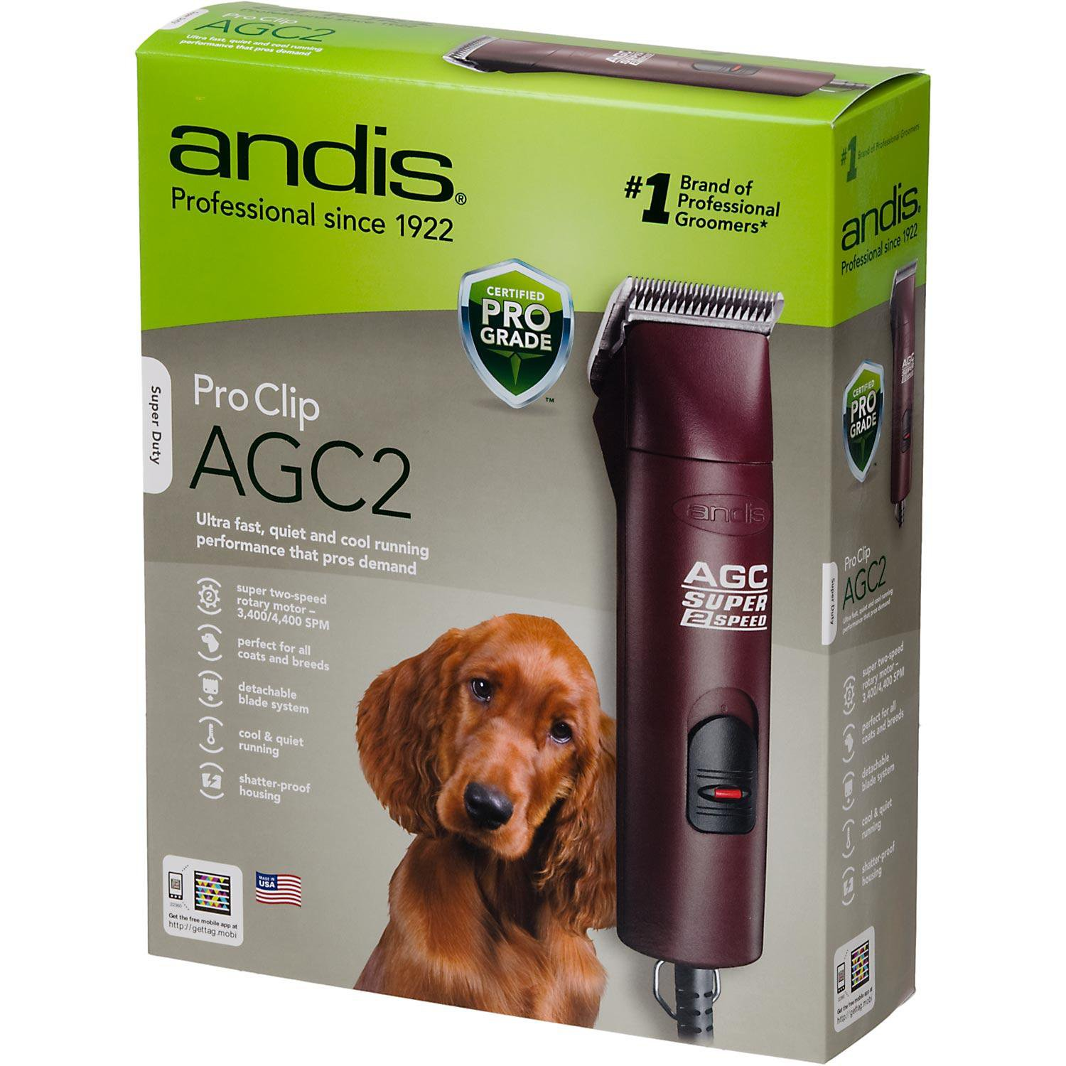 Andis AGC2 Super 2-Speed Professional Clipper with Detachable Blade