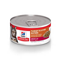 Hill's Science Diet Adult Savory Entrees Canned Cat Food, Turkey & Giblets