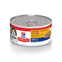 Hills Science Diet Adult 7+ Savory Chicken Entree Canned Cat Food