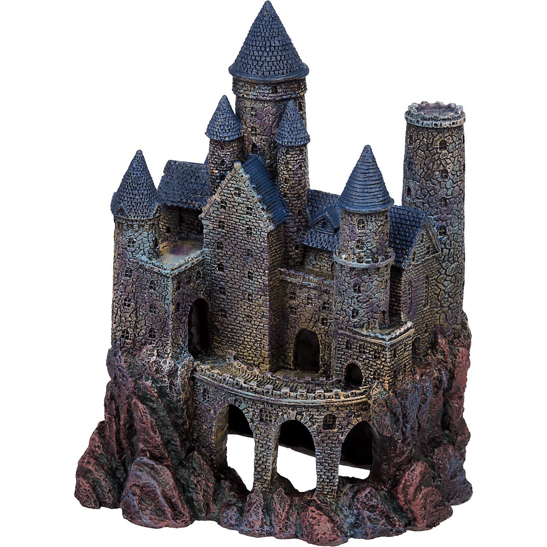 Penn plax large magical castle aquarium ornament petco for Large fish tank ornaments