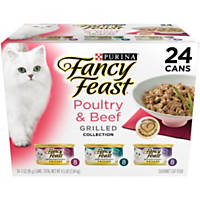 Fancy Feast Beef & Poultry Grilled Variety Pack Adult Canned Cat Food in Gravy