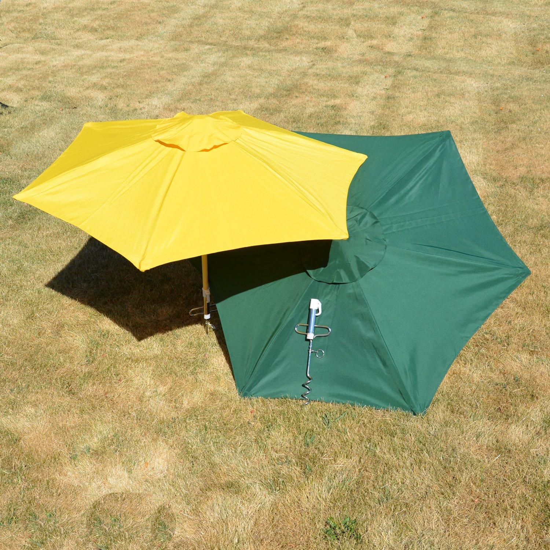 Molor PetBrella Tie-Out Stake with Umbrella in Green