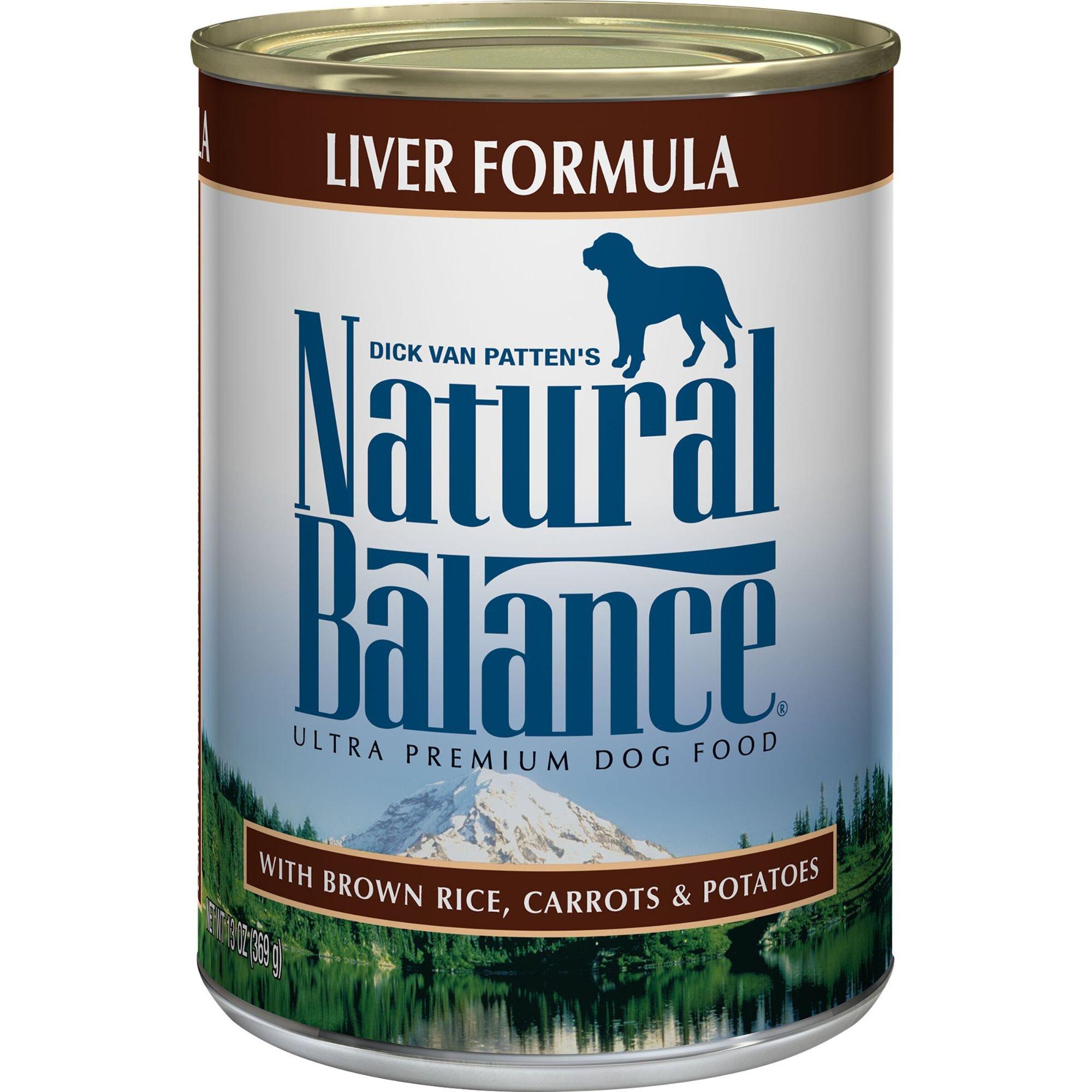 Natural Balance Ultra Premium Liver Formula Canned Dog Food