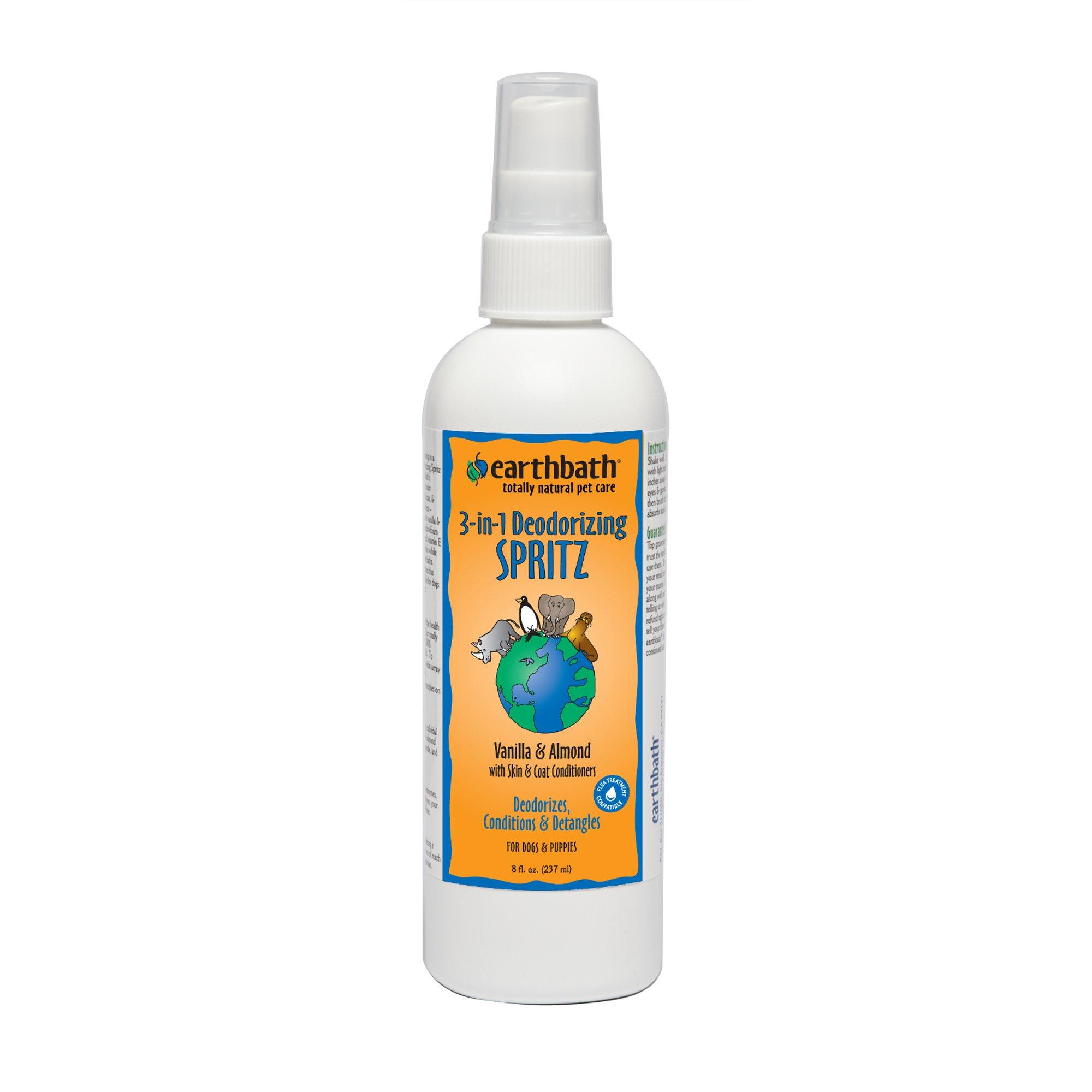 Earthbath Totally Natural Vanilla Almond Deodorizing Dog Spritz