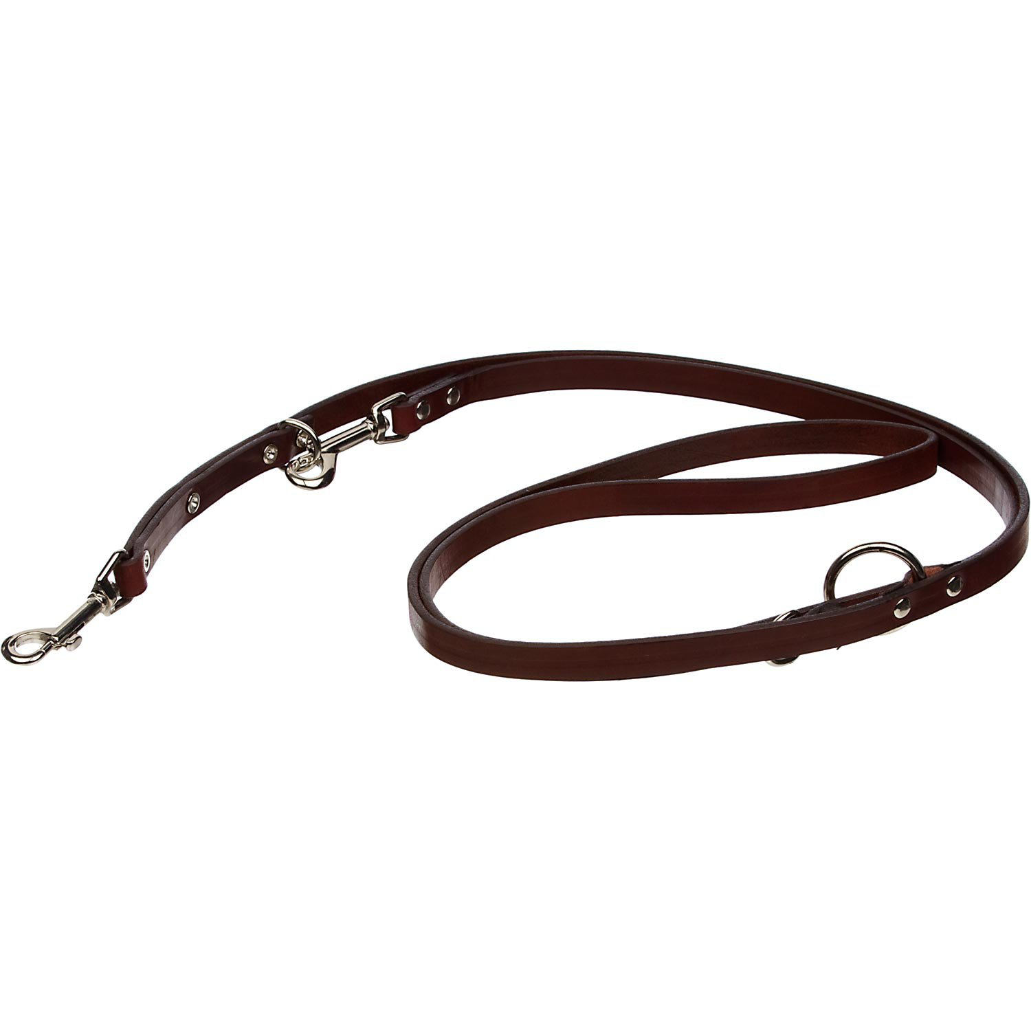 """Circle T Euro Leather Lead in Brown, 5/8"""" Width"""