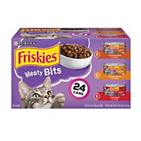 Friskies Meaty Bits Gourmet Cat Food Variety Pack
