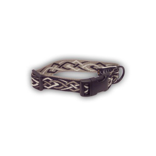 Bison Pet Black Thorn Adjustable Nylon Dog Collar