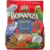 LM Animal Farms Bonanza Gourmet Diet Parakeet Bird Food