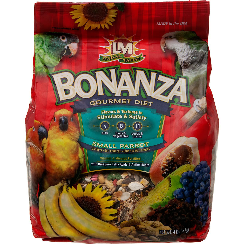 LM Animal Farms Bonanza Gourmet Diet Small Parrot Bird Food